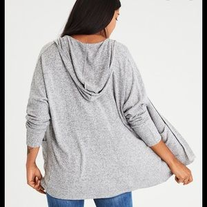 American Eagle Soft and Sexy Plush Hooded Cardigan